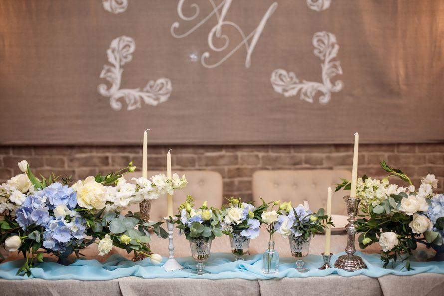 Фото 17479436 в коллекции Свадьба в голубых тонах в Блюм кафе - Студия 7 Орхидей - флористика