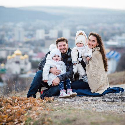 Семейная фотосъёмка, от 1 часа