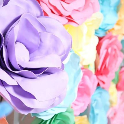 Бумажные цветы из фоамирана