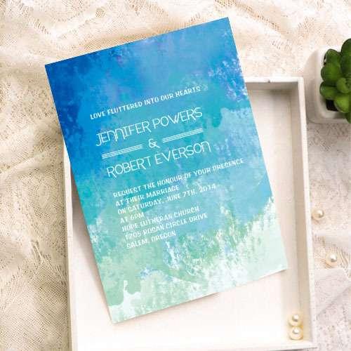 Свадебное приглашение - Акварель - фото 7707174 Maltina Maria - свадебная и праздничная полиграфия