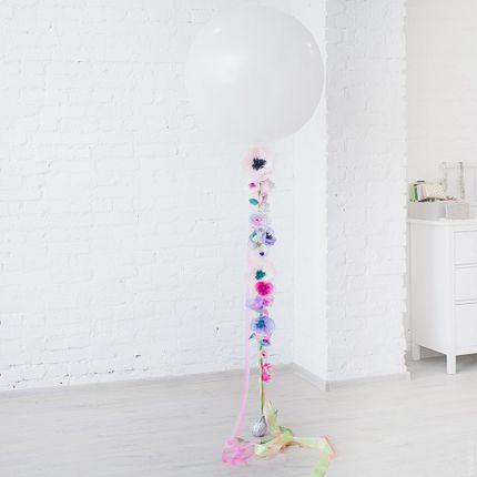 """Огромный шар """"Цветы"""" (розовый)"""
