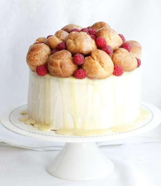 """Торт """"Белый бархат"""" с профитролями - фото 6794016 The wondercake - Эксклюзивные десерты"""