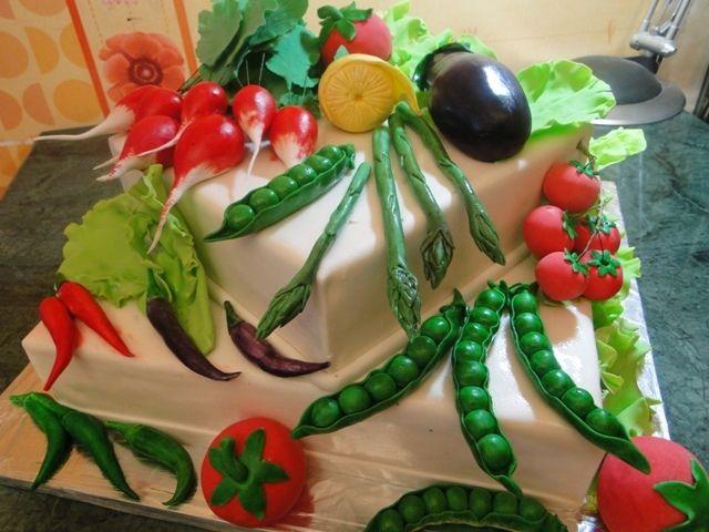 Овощи с фото тортов