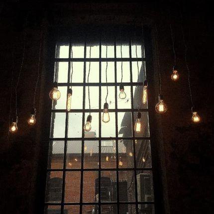 Люстра подвесная с лампами Эдисон