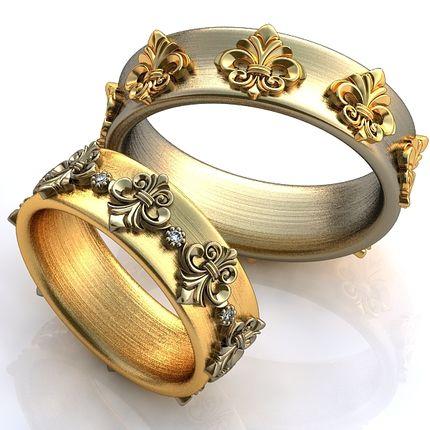 Обручальные кольца королевские