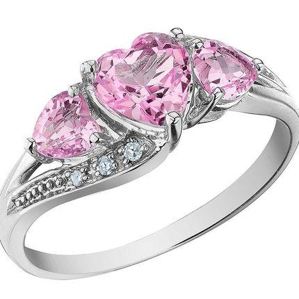 Помолвочное кольцо с аметистами и бриллиантами