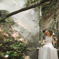 свадьба в лесу, рустик, свадебное платье, сова, качели, свадебные качели, невеста, прогулка