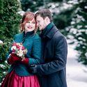 свадьба, зима, бардовый, красный,изумрудный, черный, жених, евеста, сваебная фотосессия