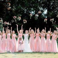 подружки невесты, подружки, коралловый, платья, платья подружек невесты, выездная регистрация, свадьба, невеста, свадьба за городом