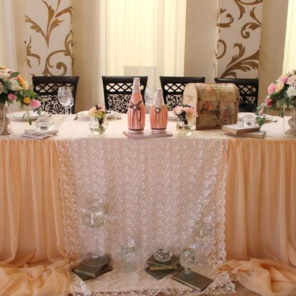 Декор стола невесты