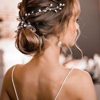 Свадебный пучок на средние волосы Украшение ручной работы в прическу