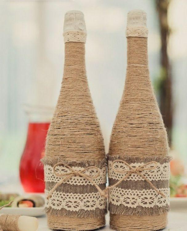 Шампанское на свадьбу рустик
