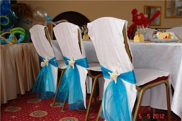 Свадебное украшение на стулья своими руками