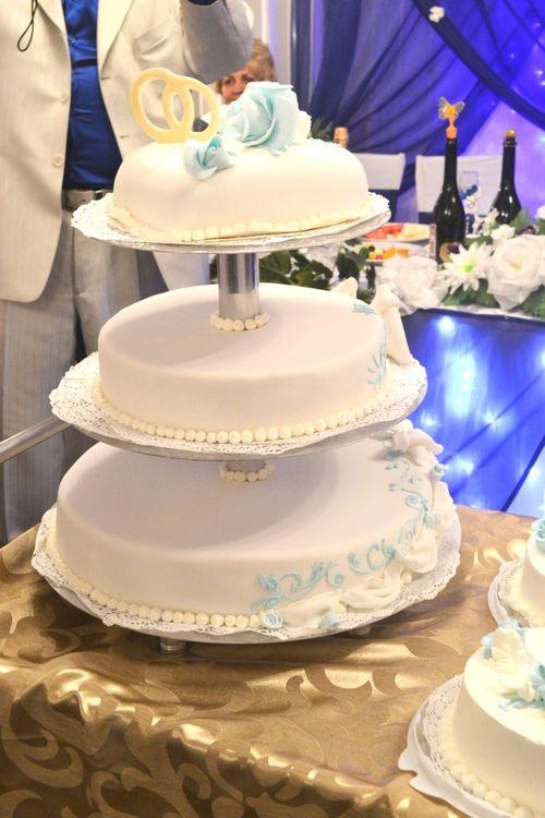 первый день Свадебный торт