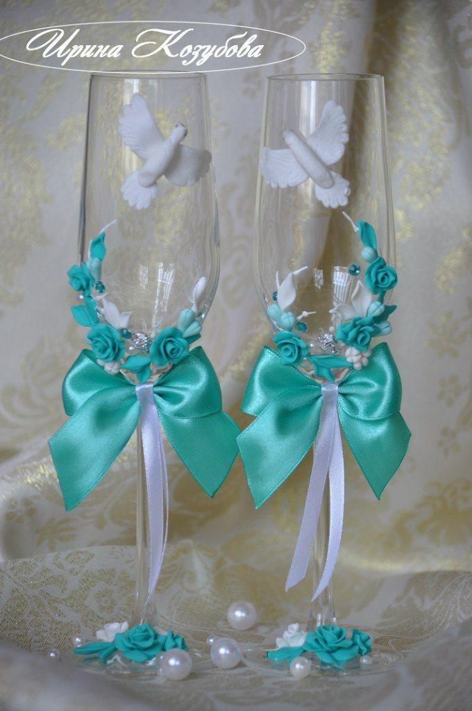 Фото 11799678 в коллекции Свадебные бокалы - Свадебные аксессуары от Ирины Козубовой