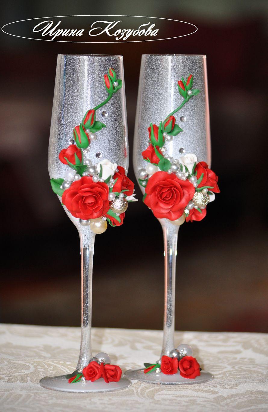 Фото 12892622 в коллекции Свадебные бокалы - Свадебные аксессуары от Ирины Козубовой