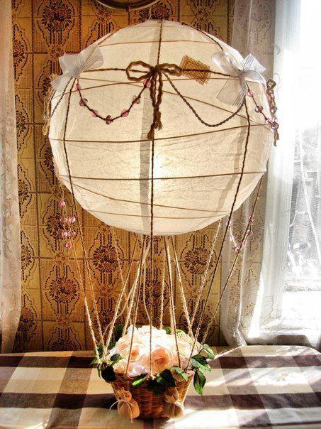Как сделать своими руками воздушный шар с корзиной