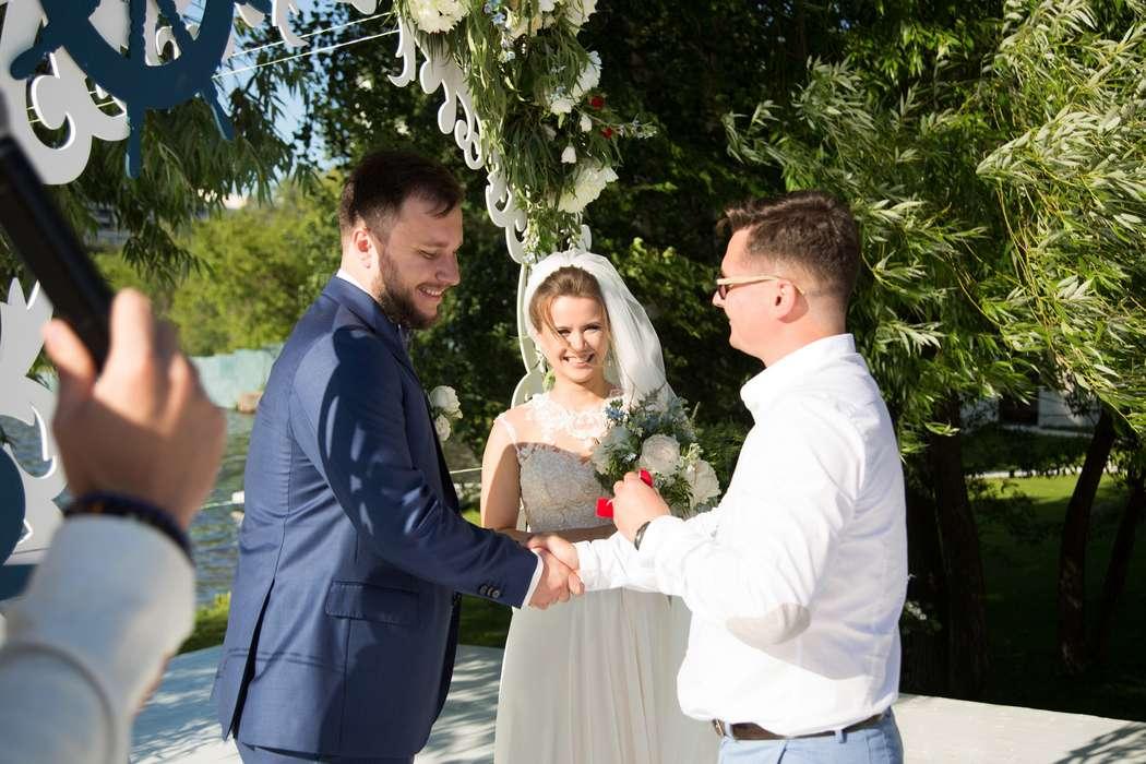 морская тема, морская свадьба, свадьба у воды, выездная регистрация, арка, синий - фото 15539738 Фото и видеосъёмка Fevish studio
