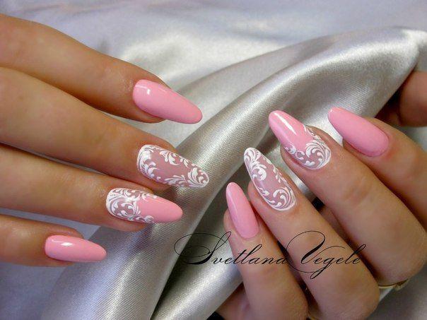 Фото ногтей с розовым