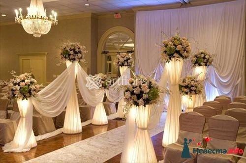 Цветочные стойки с подсветкой - фото 117465 Art Floris - комплексное оформление