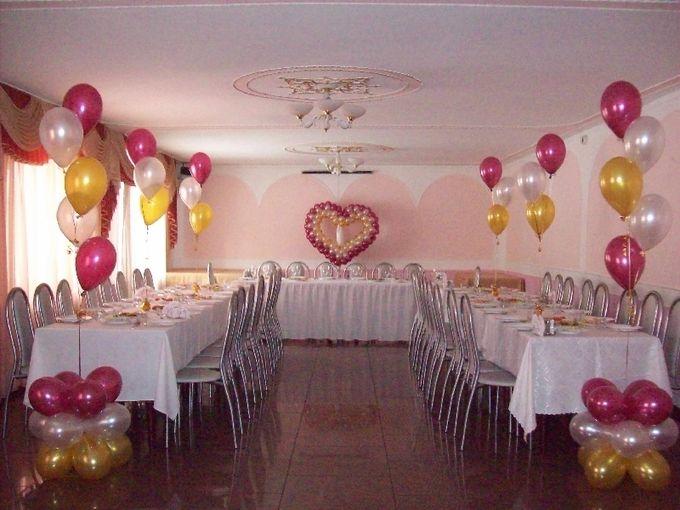 Фото как своими руками украсить зал к свадьбе