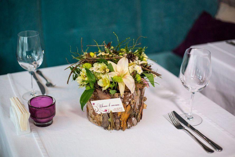 Фото 8921630 в коллекции Флористическое оформление торжеств и мероприятий - Цветы в малине,  оформление свадеб