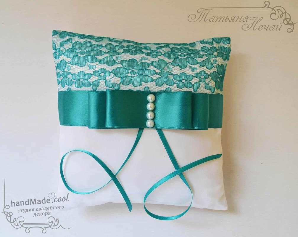 Свадебная подушечка для колец, ручная работа на заказ - фото 7676186 Студия свадебного декора Handmade