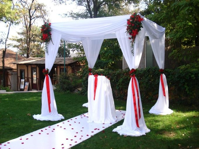 Оформление свадьбы на улице своими руками