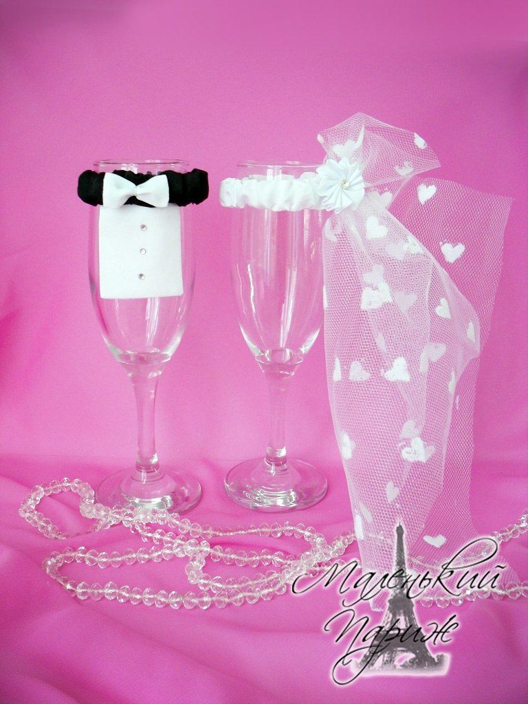 Фото 7750028 в коллекции Украшения на бокалы и бутылки - Свадебное оформление Ажур family