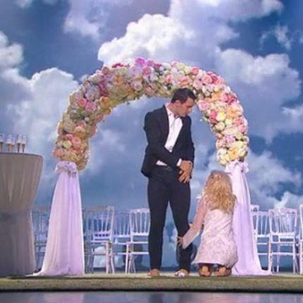 Аренда свадебной арки из цветов