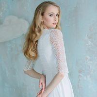 """Платье """"Плетеные узоры"""". Струящаяся юбка полусолнце из плотного шифона, и плетеное кружево, немного напоминающее этнические мотивы. Стильное платье для избранной невесты."""