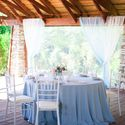 Серо-голубая свадьба Dusty blue Голубая свадьба Розово-голубая свадьба Сервировка Мини-отель Таежный Бокалы из цветного стекла