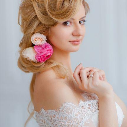 Свадебная прическа и макияж с репетицией