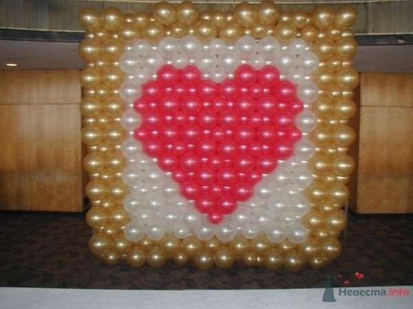 Панно сердце - фото 28626 Фабрика Шаров - оформление воздушными шарами