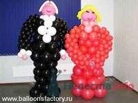 Жених и невеста - фото 28628 Фабрика Шаров - оформление воздушными шарами