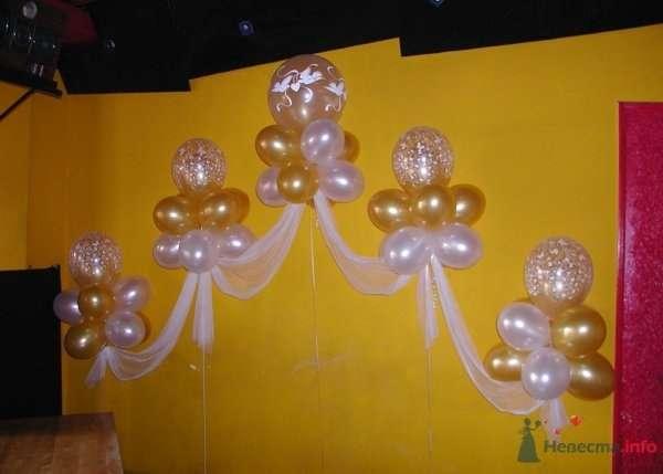 Свадебная композиция - фото 28632 Фабрика Шаров - оформление воздушными шарами