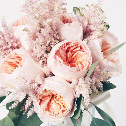 Букет невесты из роз David Austin Juliet