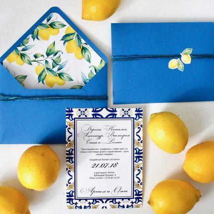 Приглашения на свадьбу в средиземноморском стиле