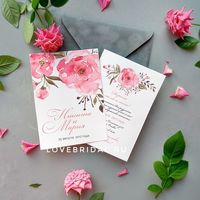 """Пригласительные на свадьбу """"Pink Roses"""""""
