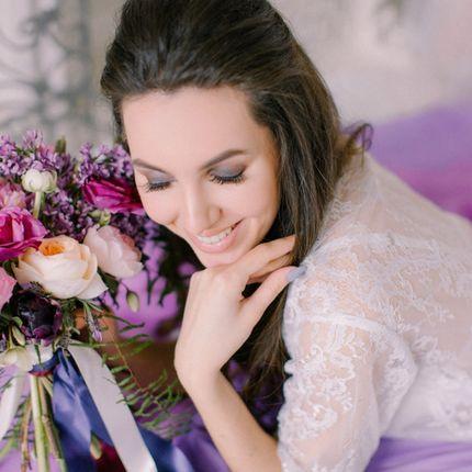 Вечерний макияж и укладка для невесты