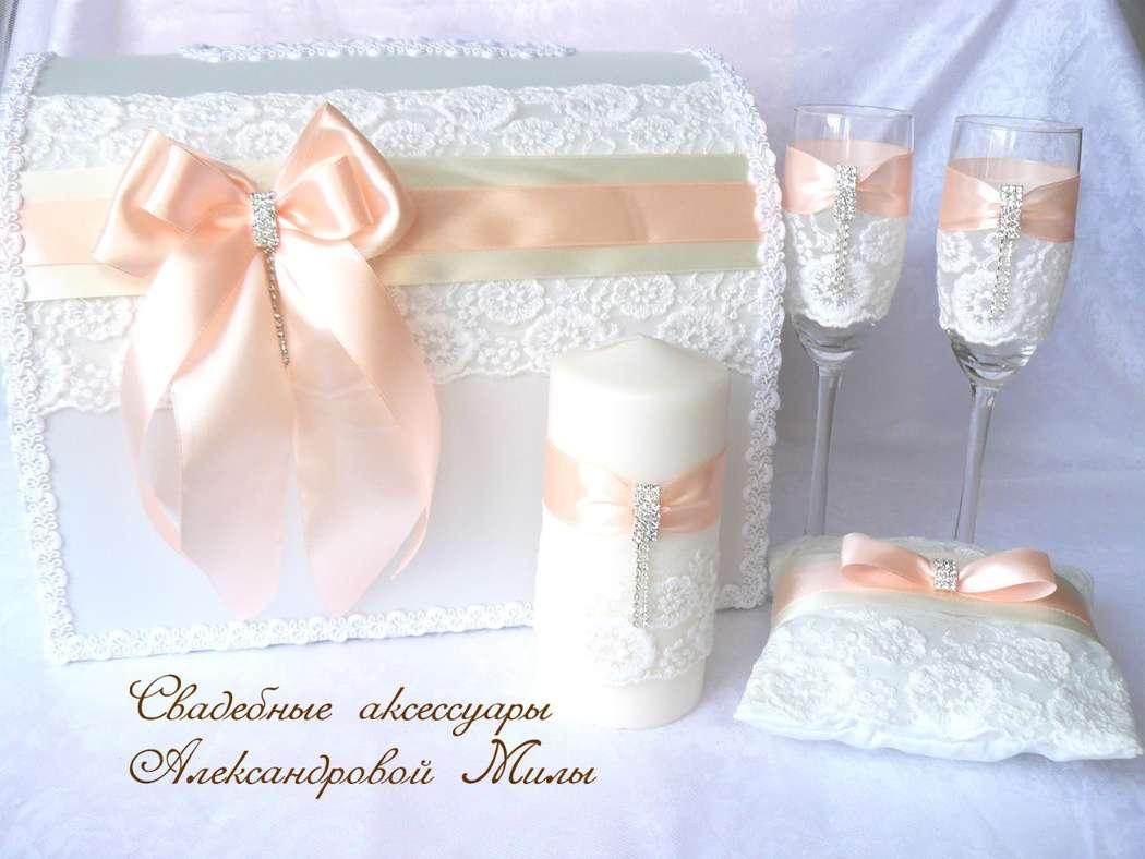 Свадебные аксессуары своими руками в персиковом цвете 41