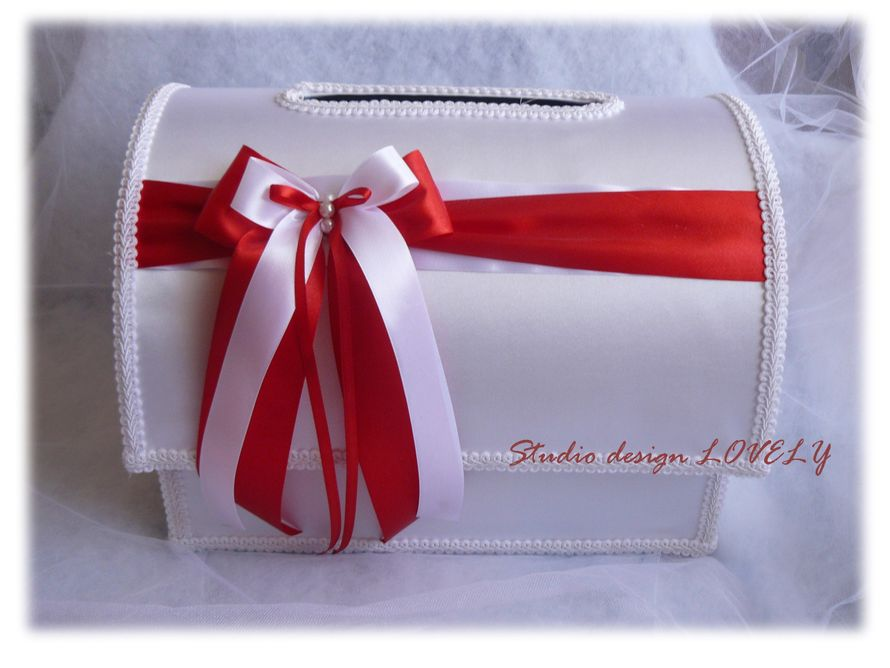 Сундук для денег на свадьбу своими руками из коробки фото в красном цвете 95