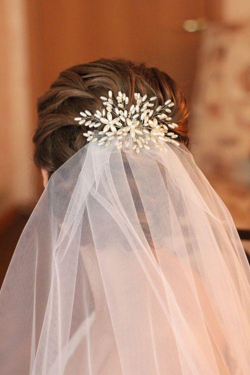 фото как крепить фату невесте постоянное