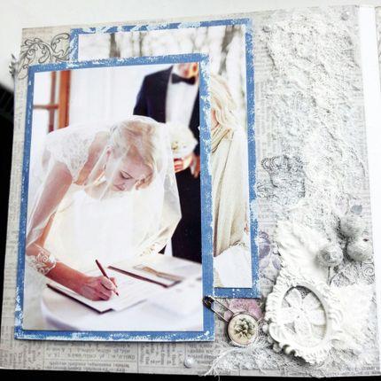 """Скрап альбом для свадебных фото """"Зимняя сказка"""""""