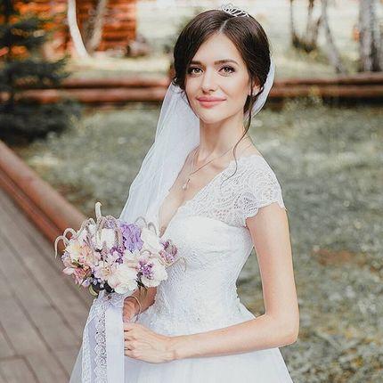 Образ невесты (макияж + причёска)