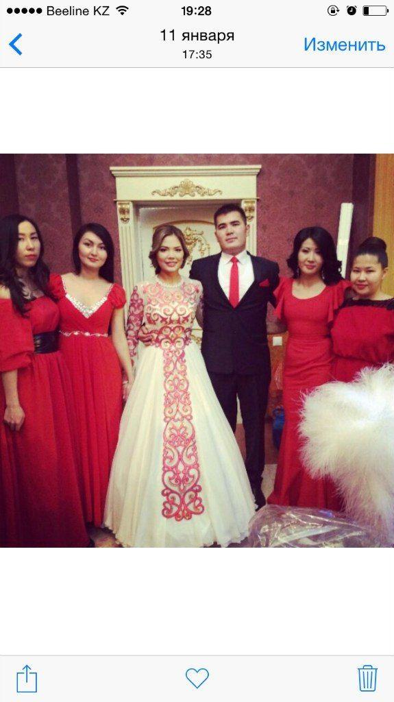 Казахское свадебное платье на кыз узату - фото 9051000 Салон казахских свадебных платьев Золотая пуговица