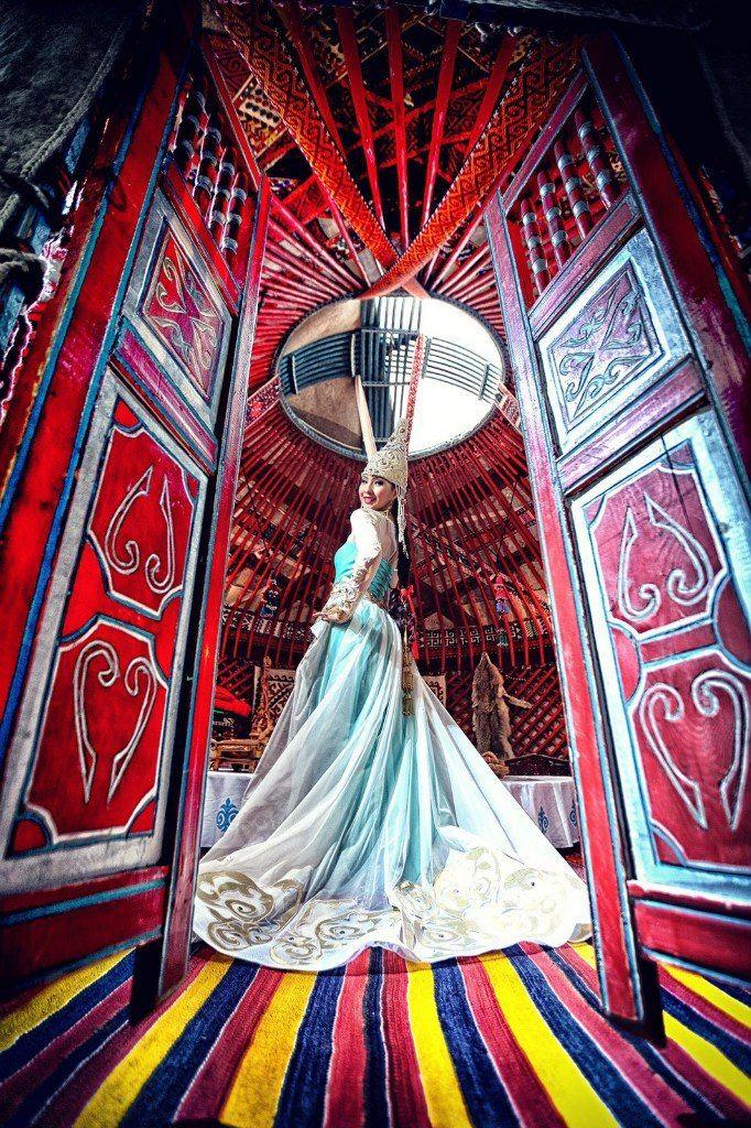 Казахское свадебное платье на кыз узату - фото 9051012 Салон казахских свадебных платьев Золотая пуговица