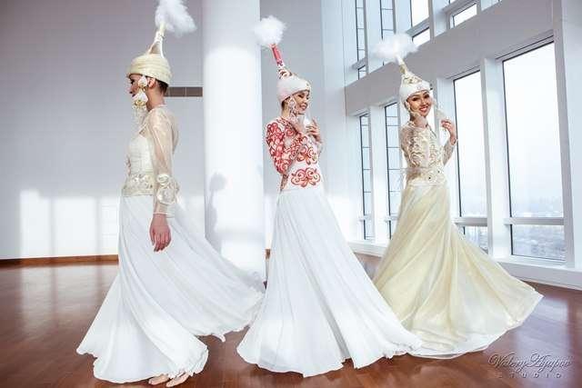 Казахское свадебное платье на кыз узату - фото 9051046 Салон казахских свадебных платьев Золотая пуговица