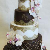 торт для шоколадной свадьбы