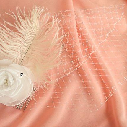 Свадебная вуалетка и белого шифона